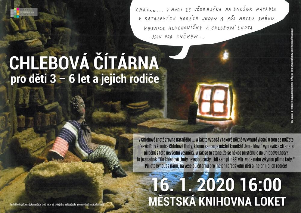 Chlebová čítárna plakát střední